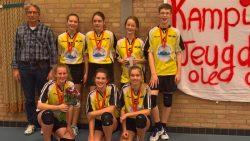 Het team Jeugd XC 1 (mix C 2e klasse K) kampioen