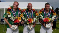 Renze Stiemsma, Tjeerd-Jan Boomsma en Klaas de Haan winnaars NK kaatsen 50 plus