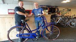 Auke Meinema uit Dokkum winnaar van sms-fiets-actie