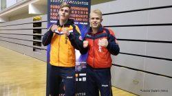 Jesse Swart (links) (16) uit Hallum