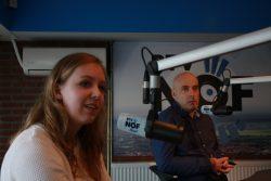 Anne Marije Andringa en Erwin Ytsma schoven aan in de studio om te vertellen over het Van Wieren en Vellinga Muziekfestival