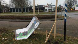 Verkiezingsbord CDA Dantumadiel vernield
