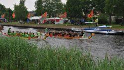 Open Friese kampioenschappen Drakenbootrace in Kollum