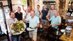 Harry Slagman veertig jaar in dienst bij schildersbedrijf Loonstra