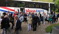 Excursie van de historische vereniging Aed Levwerd in Kollumerland c.a.