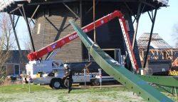 Nieuwe roeden voor molen Windlust, Burum