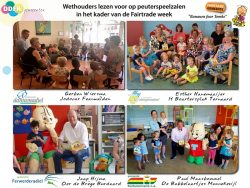 Wethouders lezen voor tijdens Fairtrade week DDFK-gemeenten