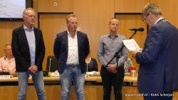 Auke Sikma, Jouke Feddema en Romke Postma in de raad