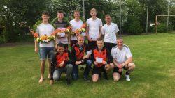 KNKB heren 2e klas en junioren kaatsen in Paesens-Moddergat