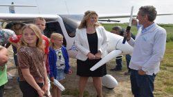 Elektrisch vliegtuig land op 'Electric Only' vliegveld Holwerd