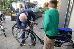 Leerlingen !mpulse Kollum, OSG Piter Jelles, veilig op de fiets naar school