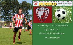 Friese Boys neemt het op tegen VV Suawoude