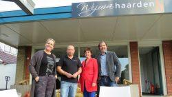 Het stookdagteam tijdens stookdag bij Wijma Haarden