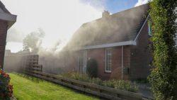 Brandende wasdroger veroorzaakt veel schade in woning