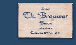 Suikerzakje Hotel Th. Brouwer Buren