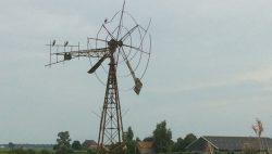 Amerikaanse windmotor in vervallen staat