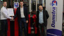 Koninklijke Damstra Installatietechniek ontvangt belangrijk certificaat
