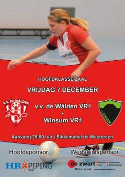 v.v. De Walden VR1 speelt tegen Winsum VR1
