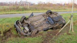 Eenzijdig ongeval op rondweg in De Westereen