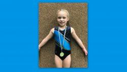 Silke Wielstra met haar gouden medaille