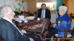Burgemeester Apotheker op bezoek bij familie de Jong