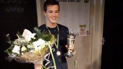 Gerwin Haaksma jonge winnaar 23e crossloop VV Ropta Boys