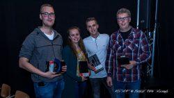 Team Kan makkelijk, bestaande uit Thomas, Herman, Tjipke en Hennie, won De Quizshow
