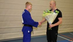 Huldiging Nederlands kampioenen bij Judo Kings
