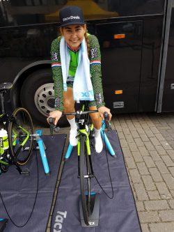 Anouska Koster bij Healty Ageing Tour in 2018