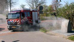 Brandweer blust ondergrondse container