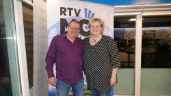 Auke en Ellen te gast in de studio van RTV NOF