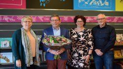 Oud en nieuw bestuur Stichting Wodant: Doetie de Jager, Tjerk Soet, Ietsje de Boer en Sipke Deelstra.
