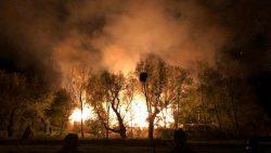 Oude boerderij in vlammen op voor Kollumer Oproer
