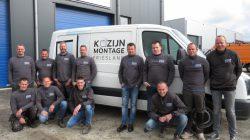 De medewerkers van Kozijn Montage Friesland