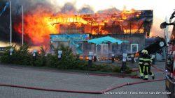 Grote brand in restaurant Lauwersoog