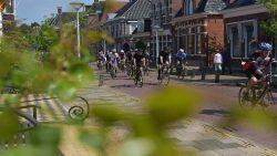 Rustige doorkomst fiets11stedentocht Dokkum