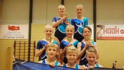 Het mixed team van GVV pakte vier 1e prijzen