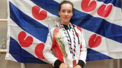 Ilse Osinga met haar gouden medaille