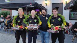 Winnaars Jacob Douma, Jan de Vries en Pieter Sikkema