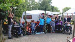 Feestelijke opening van de beleef caravan bij Talant