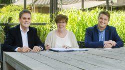 Pranger Rosier (r) bouwt mee aan nieuwe sporthal in Burgum