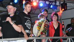 Cor Hellinga met Durk, Mike en Dorrie
