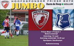 Beker wedstrijd Friese Boys-Twijzel