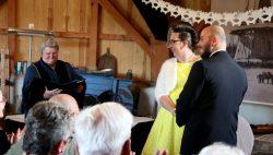 Huwelijk in molen 'Windlust'  Burum