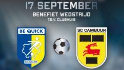 Benefietwedstrijd Be Quick Dokkum tegen SC Cambuur