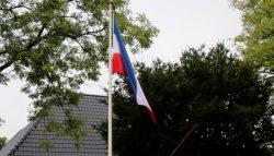 Noodsignaal van de boeren vlag ondersteboven