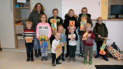 De winnaars van de kleurplatenwedstrijd van Peuteropvang it Wrottershonk