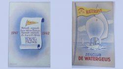 Achter- en voorkant clubboekje, ontwerp H.A. Silvius