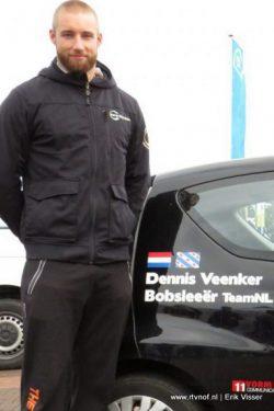 Achtste plaats Dennis Veenker bij de Europe Cup bobsleeën