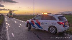 Ongeval tussen auto en fietser in Sibrandahûs